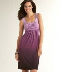 LOFT Purple Ombre Sleeveless Dress sz6